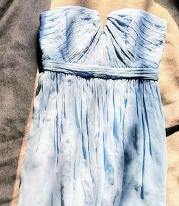 100% SILK J. CREW BABY BLUE LIKE NEW DRESS 2